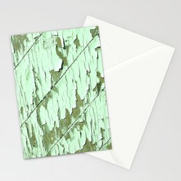 Peeling Light Green Paint Wooden Wall Stationery Cards