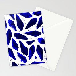 Cobalt Blue Ink Blots Stationery Cards
