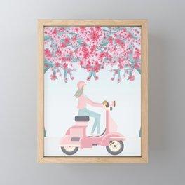 Cherry Blossom in Japan 2 Framed Mini Art Print