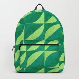 Geo Green Leafs Backpack