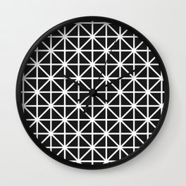 Minimal Black + White Pattern Wall Clock