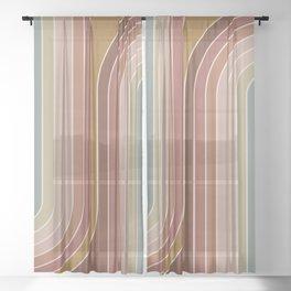 Gradient Curvature IX Sheer Curtain