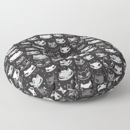 Rockabilly Cats with Pompadours Floor Pillow