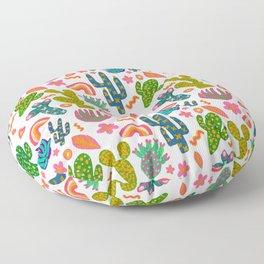 Colorful Cactus/Happy Cactus/Rainbow Cactus/Cactus painting/Cactus Patterns Floor Pillow
