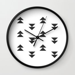 Mudcloth double triangles Wall Clock