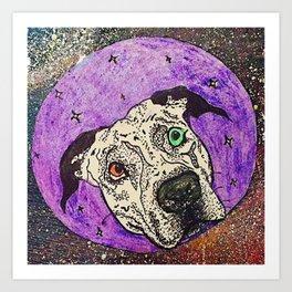 Galaxy dog Art Print