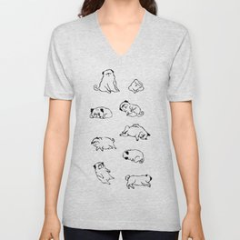 More Sleep Pug Unisex V-Neck