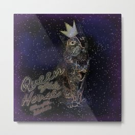 Queen of the House Killer of the mouse (Space) Metal Print