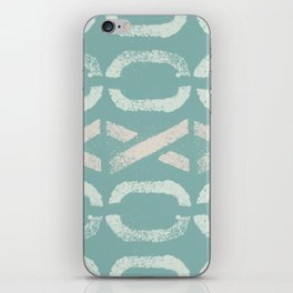 Shapes Of Love - Retro Pastel Green iPhone Skin
