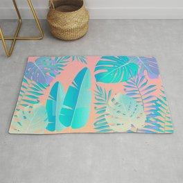 Tropics ( monstera and banana leaf pattern ) Rug