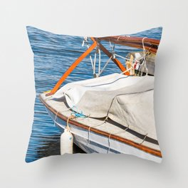 Boat on the Broads Throw Pillow