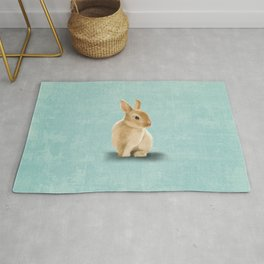 Portrait of a little bunny Rug