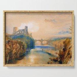Barnard Castle - Joseph Mallord William Turner Serving Tray