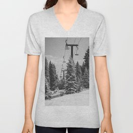 Chairlift to the Top Unisex V-Neck