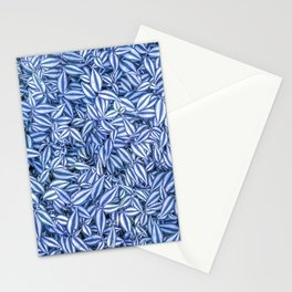Floral pattern - Wandering Jew plant leafs Stationery Cards