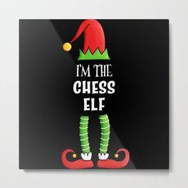 Chess Elf Family matching Christmas Gift Metal Print