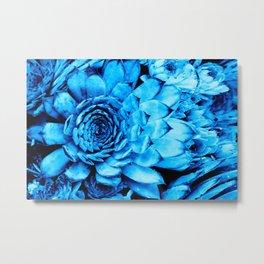 BLUE SERIES Succulent, Cactus, Blue wall-art, Nature, Botanical, Plant, Photography Metal Print