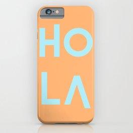 HolA orange & mint iPhone Case