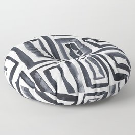 Black Ink Squares Floor Pillow