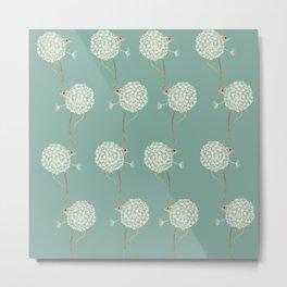 Mouse in a Dandelion Pattern Metal Print