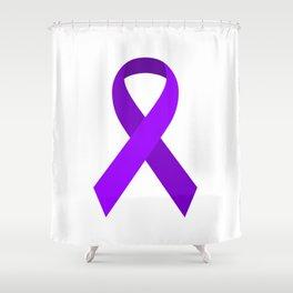 Purple Awareness Support Ribbon Shower Curtain