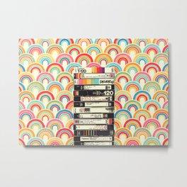 VHS & Rainbows Metal Print
