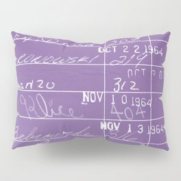 Library Card 23322 Negative Purple Pillow Sham