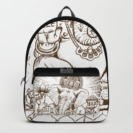 Ganesh: Brown Backpack