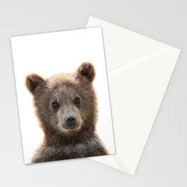 Baby Bear Print by Zouzounio Art Stationery Cards