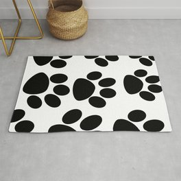 Puppy Paws Black Rug