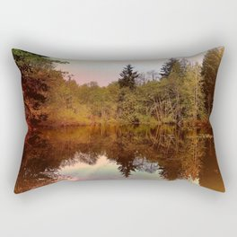 Mirror Pond, Perfect Stillness At Sunset Rectangular Pillow