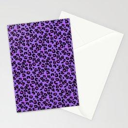 Bright Purple Leopard Spots Animal Print Pattern Stationery Cards