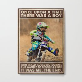 Speed Addicts OUAT A Boy Loved Motocross Metal Print