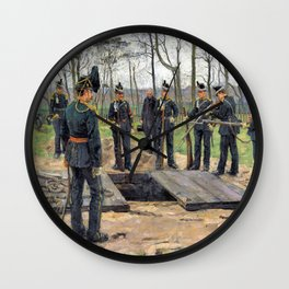 Isaac Lazarus Israels - Military Funeral - Digital Remastered Edition Wall Clock