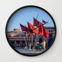 Pride of Jemaa el-Fna (Marrakech) Wall Clock