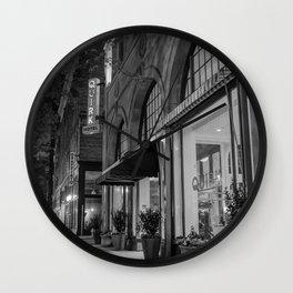 Downtown Richmond Hotel In Black & White Wall Clock