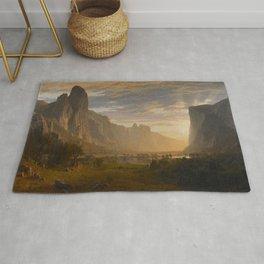 Looking Down Yosemite Valley California By Albert Bierstadt | Reproduction Painting Rug