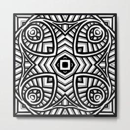 Ornately Crossed Metal Print