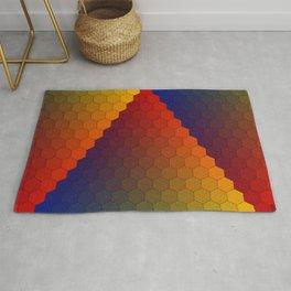 Lichtenberg-Mayer Colour Triangle variation, Remake using Mayers original idea of 12+1 chambers Rug