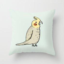 Happy Cockatiel Throw Pillow