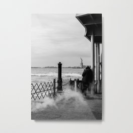 Liberty from the back of The Boat Metal Print
