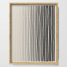Black Vertical Lines Serving Tray