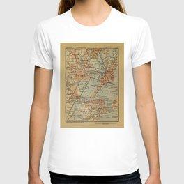 Vintage Jersey City, Newark, Elizabeth NJ Map (1894) T-shirt