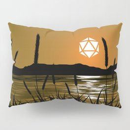 Marshland Sunset D20 Dice Sun Tabletop RPG Landscapes Pillow Sham