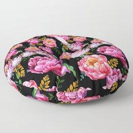 Pink Peony Flowers Pink Dimonds Floor Pillow