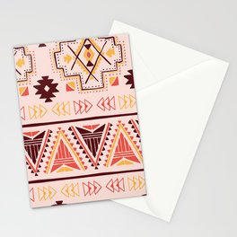 Pink tribal pattern Stationery Cards