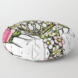 Love _ Heart _ Floral Art Floor Pillow