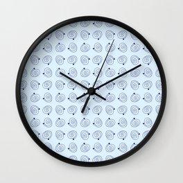 spiral 29- blue Wall Clock