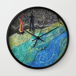 Campfire Stories Wall Clock