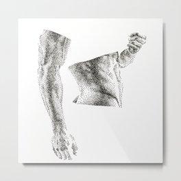 Bruce - Nood Dood Metal Print